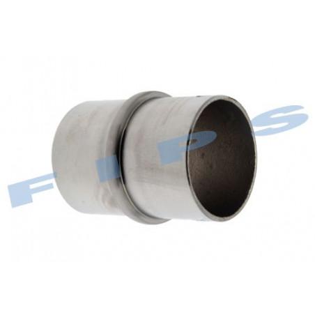 Raccord droit à coller pour tube 42.4x2 mm en inox 316 brossé