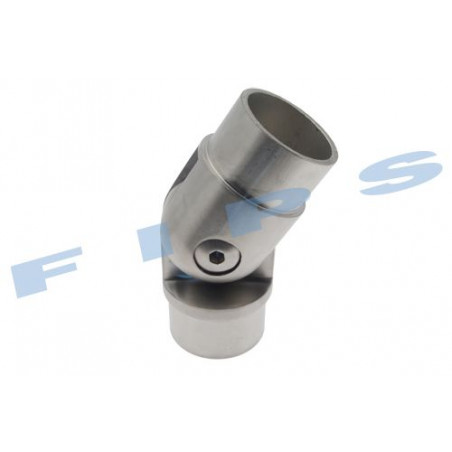 Raccord orientable à coller pour tube 42.4x2 mm en inox 316 brossé