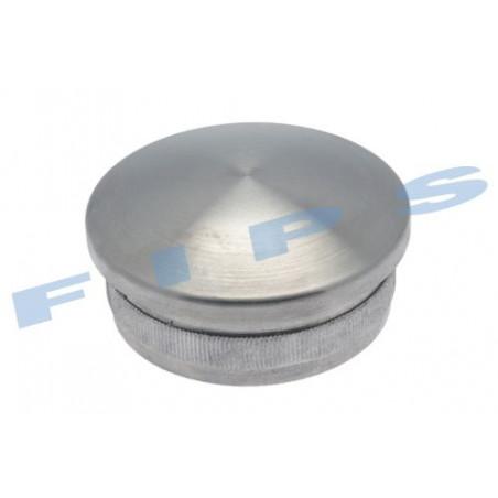Capuchon bombé creux à coller pour tube 42.4x2 mm en inox 316 brossé