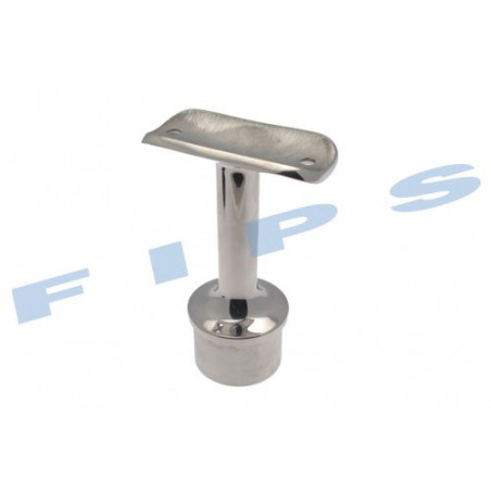 Support main-courante à coller pour tube 42.4x2 mm en inox 316 poli miroir