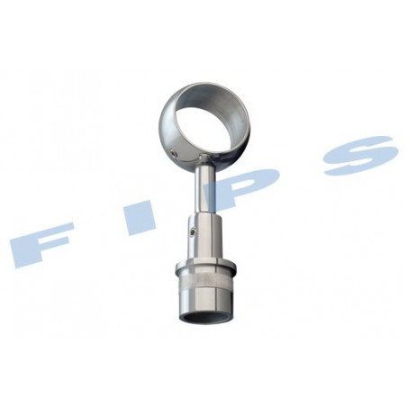 Support main-courante à bague à coller pour tube 42.4x2 mm en inox 316 poli miroir