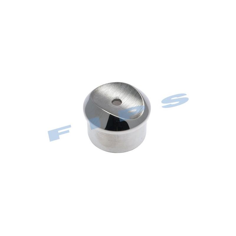 Adaptateur à pans coupés à coller pour tube 42.4x2 mm en inox 316 brossé