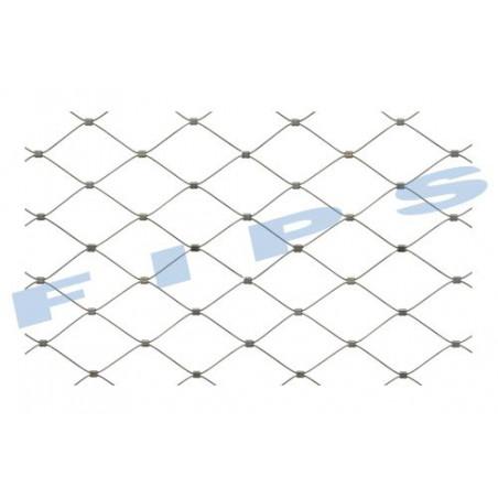 Filet en inox 316 tressé en câble souple (7x7) de diamètre 2 mm - rouleau de 25 mètres - recoupable en longueur