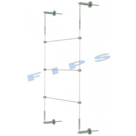 Kit support plantes grimpantes hauteur 2 mètres