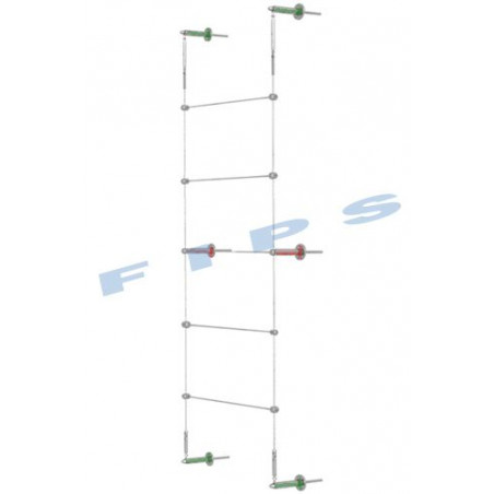 Kit support plantes grimpantes hauteur 3 mètres